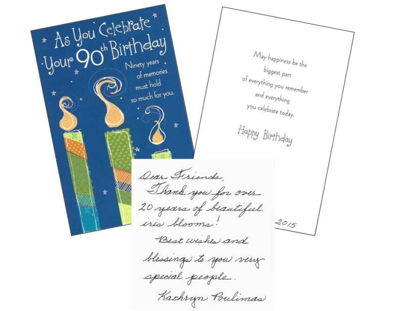 90th Birthday Card-collage